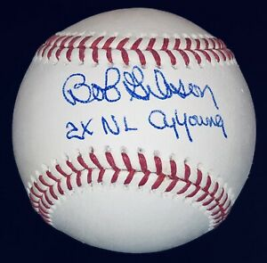 "Bob Gibson signed Cardinals autographed ""2x NL Cy Young"" auto baseball JSA COA"