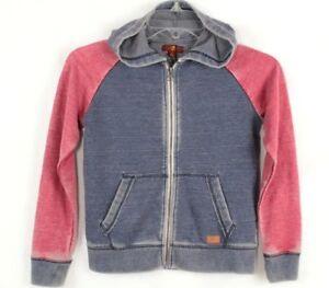 7 For All Mankind Boy's Hoodie Indigo Blue Sweatshirt Size S