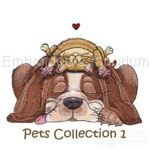 PETS COLLECTION 1 - MACHINE EMBROIDERY DESIGNS ON CD OR USB
