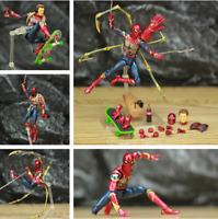 "Marvel Avengers Iron Spider Man 6"" Action Figure KOs Mafex 081 Infinity War HOT!"