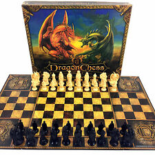 Dragon Chess Board Game 2 In 1 Set DragonChess Mint 2005 Rare Fantasy Set