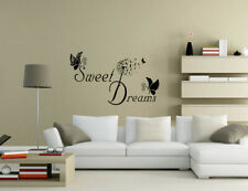 Sweet Dreams Butterfly Dandelion Wall Quotes Wall Art Wall Stickers UK 50v