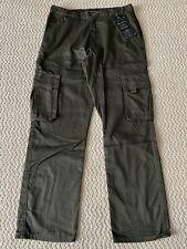 NWT Men's Marx & Dutch Olive Green Flap Cargo Pocket Straight Pants SIZES 30-40