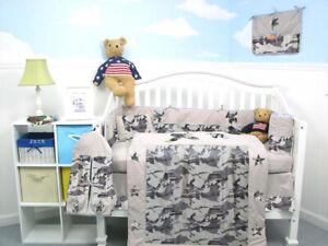 SoHo baby nursery crib bedding 10 pieces set for boys and girls