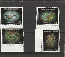 Papua New Guinea 1986 Small Birds Ameripex Set MNH