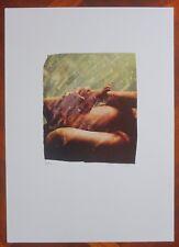 MIMMO ROTELLA offset collage su carta SENZA TITOLO   (20D)