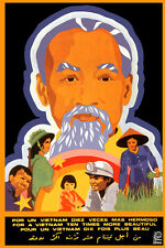 "16x20""Decoration CANVAS.Room political design art.Ho Chi Minh.Vietnam.6553"