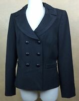 Tahari Arthur S. Levine Blazer Jacket Charcoal Gray Double Breasted Size 8