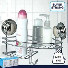 Suction Stick Corner Shower Rack Caddy Bathroom Soap Toiletries Shelf Basket