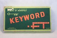 Keyword Game by Waddingtons - Vintage Word Letter game 1950's - Complete