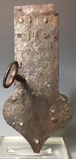Antique PA 18th/19th Century Wrought Iron Blacksmith Forged Lock w/ Skeleton Key