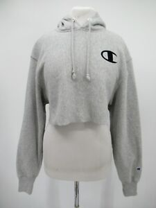 M9782 VTG Women's Champion One Point Reverse Weave Cropped Hoodie Size XS