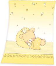 Decke Baby Schlafbär Mikrofaserflausch 75x100 cm