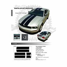 Ford Mustang 2005 to 2009 Wildstang Dual Stripe Graphic Kit Gloss Black