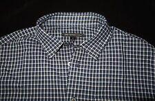 NEW John Varvatos Check Shirt in Cobalt Size M 34/35 Long Sleeve 100% Cotton