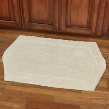 RUG 24X40 Cotton Hight Quality Linen Bath Rug Machine Wash Rugs Tan Linen NEW