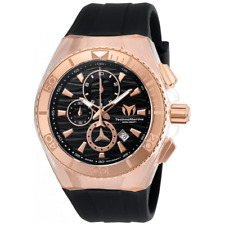 TechnoMarine TM-115048 Cruise Star Rose Gold/Black Dial 46mm Swiss Movt. Watch