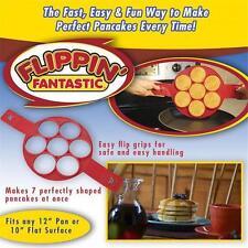 Easy Fast Flippin' Fantastic Nonstick Pancake Maker Egg Ring Kitchen Gadgets DD