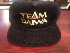Vintage 90's TEAM DAIWA Logo Fishing OSFM Black Rope SnapBack Hat - ADULT