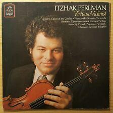 """Itzhak Perlman: Virtuoso Violinist, Bazzini, Wieniawski, Angel 12"""" LP S-37456"""