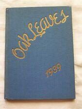 1939 LATON HIGH SCHOOL YEARBOOK  LATON, CALIFORNIA  OAK LEAVES