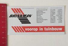 Aufkleber/Sticker: Koninklijke Brinkman - Voorop In Tuinbouw (100616192)