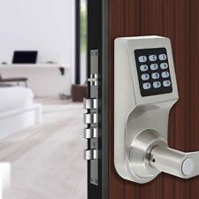 4-in-1 Digital Electronic Code Keyless Backlight Keypad Security Entry Door Lock