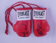 Autographed Mini Boxing Gloves Mike Tyson V Lennox Lewis