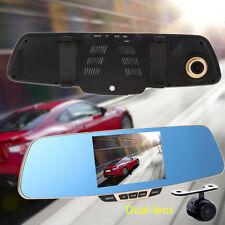 5'' 1080P Full Hd Car Dvr Rear view Mirror Dual Lens Camera Dvr Video Recorder