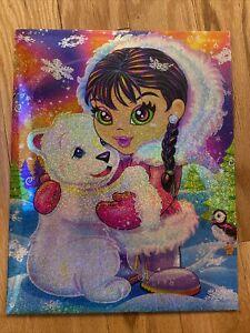 LISA FRANK Anana & Polar Bear Winter Roary School Folder 2006 Lisa Frank Club