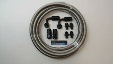 8 AN Stainless Steel Braided Dodge 48RE Automatic Transmission Cooler Line Kit