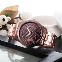Luxury Women's Stainless Steel Band Analog Wrist Watch Ladies Bracelet Watches