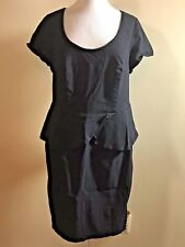 TORRID Plus Size 18 Black Stretch Peplum Open Back Fitted Body Con Dress