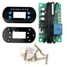 AC/DC12V Blue LED Digital Thermostat Temperature Alarm Controller Meter Sensor