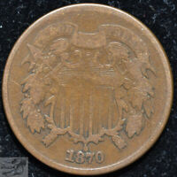 1870 Two Cent Piece, Very Good Condition, Buy 4 & Get $5 Off, Free Shippin C5126