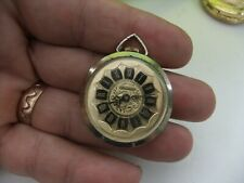 LUCERNE VINTAGE GOLD TONE HAND WINDING LADIES  PENDANT WATCH NO CHAIN