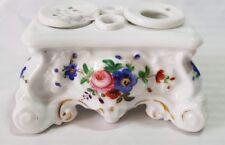 PORCELLANA DI PARIGI inchiostro floreale stand e Blotter, Rococò Stile, intorno al Mid 19TH C
