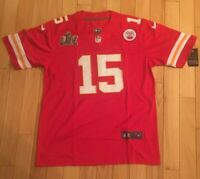 'SUPER BOWL 54' Men's Nike Patrick Mahomes #15 W/Patch Game Jersey Sz. Large