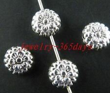 120pcs Tibetan Silver Nice Flower Spacer Beads 7.5x4mm zn3048