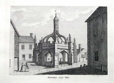 WILTSHIRE, MALMSBURY MARKET CROSS, Hooper Grose  Antique Print 1785