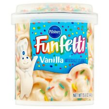 NEW PILLSBURY FUNFETTI VANILLA FROSTING 15.6 OZ GLUTEN FREE WORLD WIDE SHIPPING