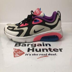 F126 Nike Air Max 200 (GS) AT5630-100 Kids Shoes US 7y UK 6 In OK Condition