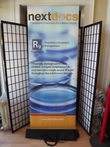 """Skyline Retractable Banner Stand Portable Roll Up  Pop Up Display Stand 84""""x32"""""""