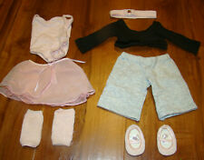 AMERICAN GIRL 2 in 1 OUTFIT LEOTARD SKIRT SWEATER LEG WARMERS SLIPPERS DANCE MIA