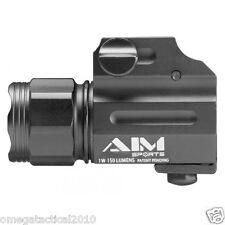 Sub Compact Tactical Pistol Flashlight 150 Lumen  Fits Glock Ruger Xd Xdm