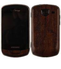 Skinomi Phone Skin Dark Wood Cover+Clear Screen Protector for Samsung Brightside