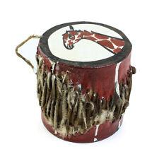 Small African Drum: Giraffe   African Music Instrument