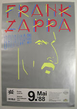 FRANK ZAPPA CONCERT TOUR POSTER 1988 BROADWAY THE HARD WAY