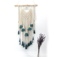 1X Macrame Wall Hanging Tapestry Wall Decor Boho Chic Bohemian Woven Home #YY