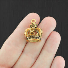 37413  Sliver Tone Beauty Graceful Folwer Crown 13*13mm Pendant 30pcs